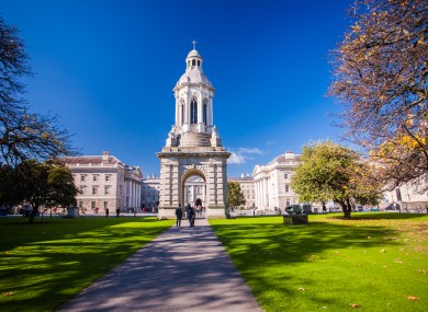 A view inside Trinity College Dublin.