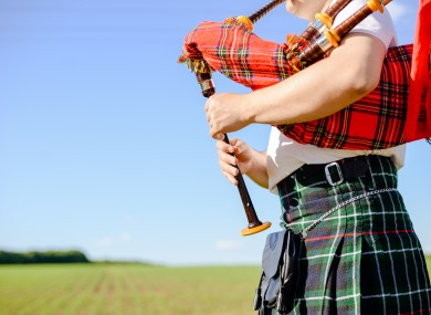 Man playing the bagpipes