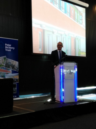 Minister Simon Coveney at the launch of the Peter McVerry Trust annual report
