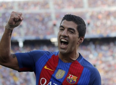 Suarez has been with Barcelona since 2014.