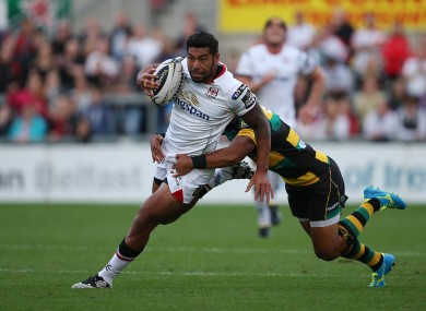 Charles Piutau in action in a pre-season match against Northampton