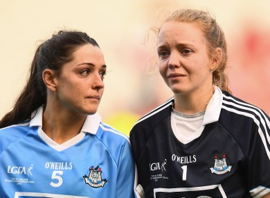 Devastated: Dublin's Sinead Goldrick and Ciara Trant.