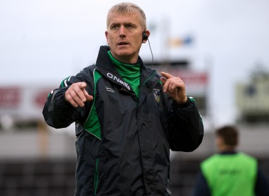 Kiely: managed Limerick's U21s to the All-Ireland in 2015.