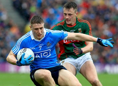 John Small of Dublin with Diarmuid O'Connor of Mayo.