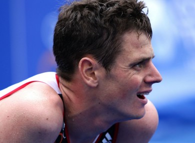 British triathlete Jonny Brownlee