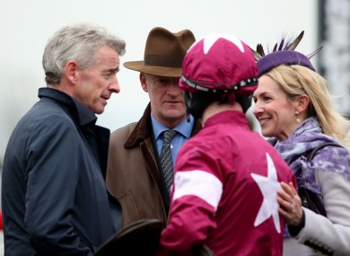 Michael O'Leary with his wife Anita, Bryan Cooper and Willie Mullins.