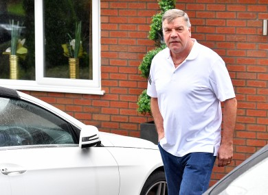 Allardyce leaves his home in Bolton this morning.