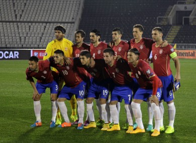 The Serbian outfit that lined out for the start of the last qualifying campaign.