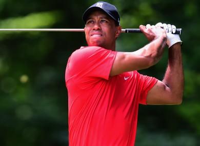 Former world number one Tiger Woods.