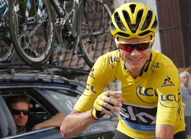 Froome: won his third Tour de France in 2016.