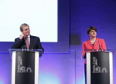Taoiseach Enda Kenny and Northern Ireland First Minister Arlene Foster.