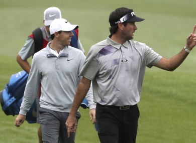 McIlroy and Watson during today's opening round.