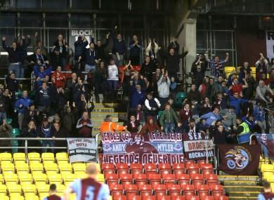 Drogheda fans celebrate (file pic).