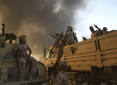 Iraqi forces are deployed during an offensive to retake Mosul.