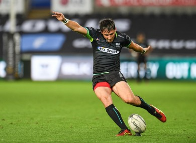 Fly-half Sam Davies has been in impressive form for the Ospreys.