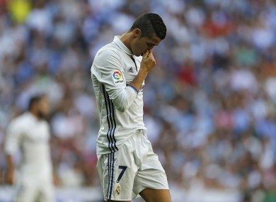 Ronaldo and co were left frustrated earlier.