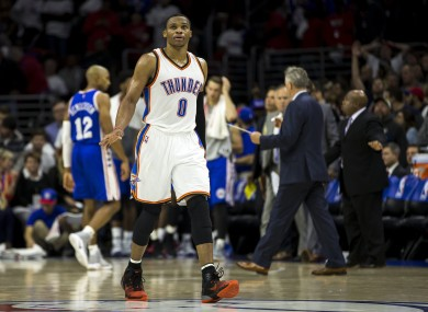 Westbrook had himself a night minus Kevin Durant.