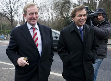 Taoiseach Enda Kenny and former Justice Minister Alan Shatter.