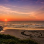 Breda Canty of Kerry captured the work of a local man who likes to make sand art on the beach at Ballybunion most weekends.