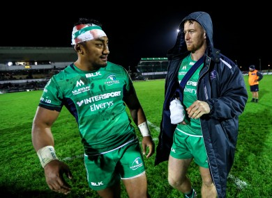 Aki and Healy compare scars after the Edinburgh encounter.