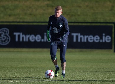James McClean looks set to be fit for Ireland's World Cup qualifier on Saturday.