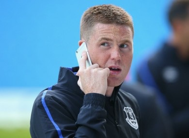 Everton midfielder James McCarthy.