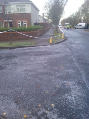 The scene in Maynooth this morning.