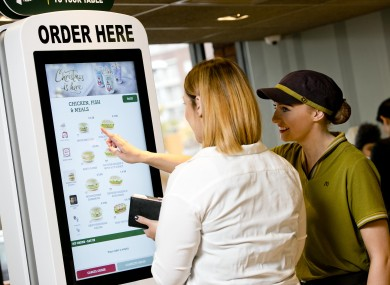 Table Service Has Been Rolled Out In Irish McDonalds Restaurants - Table service restaurants