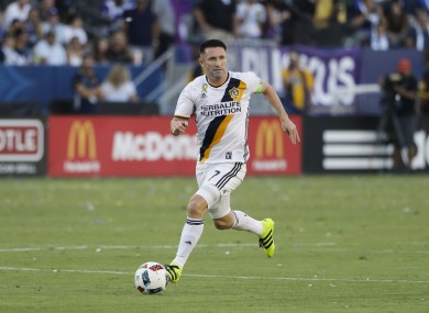 Robbie Keane in action for LA Galaxy.