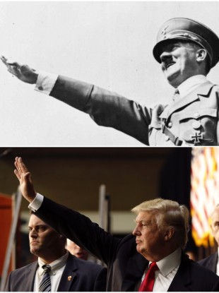 Hitler and Trump.