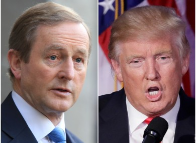 Enda Kenny and Donald Trump
