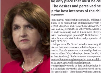 Joan Burton and the letter sent to a number of TDs.