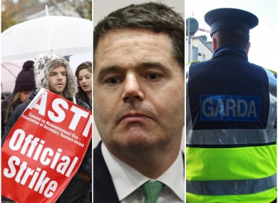 Minister for Public Expenditure and Reform Paschal Donohoe (centre)