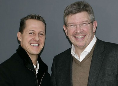 Michael Schumacher with Ross Brawn [file pic].
