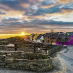 Sean Haughton of Clare took this sunset shot on St Patrick's Day - while the four bars in Doolin were packed with revellers, the road was deserted.