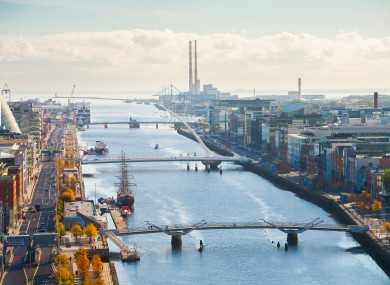 Dublin's docklands.