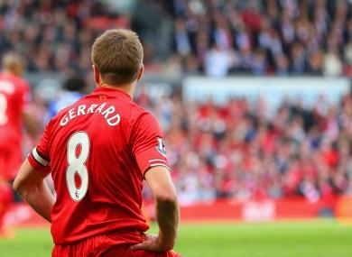 Liverpool's Steven Gerrard during a Premier League game against Chelsea.