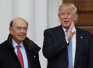 Wilbur Ross with Donald Trump