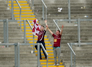Westmeath fans on Hill 16