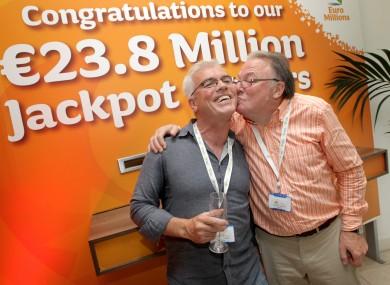 Dublin Bus Euromillions winners celebrate scoring the jackpot on 7 july.