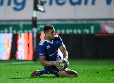 Byrne: five tries in four Pro12 starts this season.
