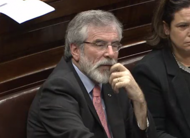 Gerry Adams wrote to the Taoiseach asking him to correct the Dáil record.