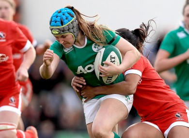 Anna Caplice in action for Ireland during the November Series.