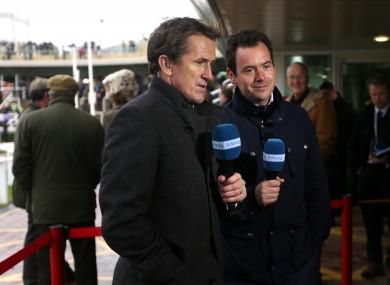 Tony McCoy alongside Channel 4's Nick Luck.