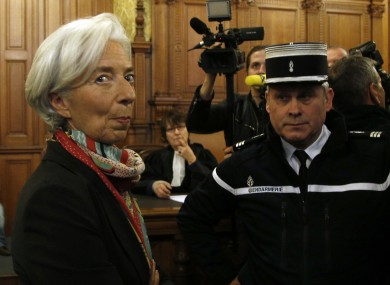 Christine Lagarde at the Paris court last week