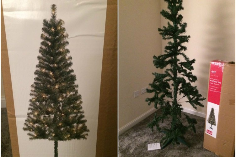 This woman's hilariously rubbish 'Christmas tree' from Argos is going viral  on Facebook - This Woman's Hilariously Rubbish 'Christmas Tree' From Argos Is