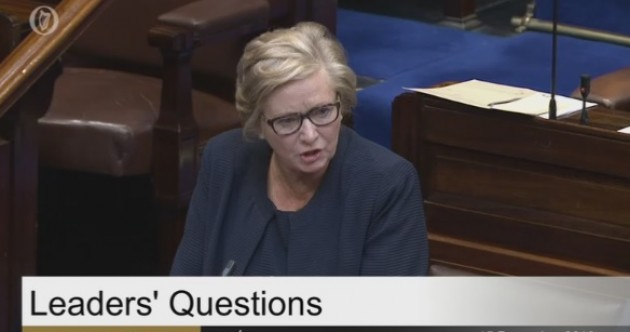 """Leaders' Questions: Mary Lou says maybe FF and FG can get a bit of mistletoe and """"kiss and make-up"""""""
