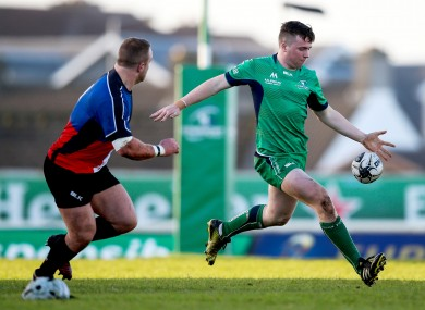 Luke Carty playing for Connacht Eagles last weekend.