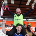 Manager Mickey McShane after Slaughtneil become the first Derry club to win the provincial title.<span class=