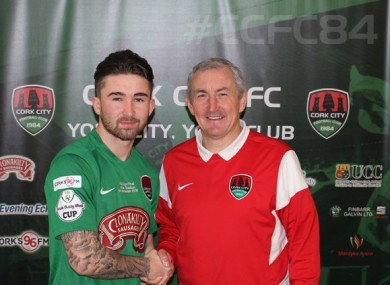 Maguire with manager John Caulfield.